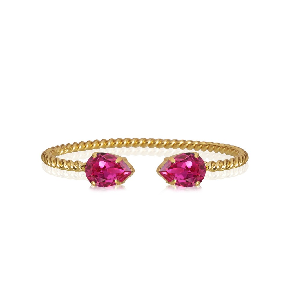 Caroline Svedbom Mini Drop Bracelet Fuchsia / Gold
