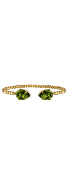 Caroline Svedbom Mini Drop Bracelet Olivine / Gold