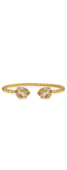 Caroline Svedbom Mini Drop Bracelet Golden Shadow / Gold