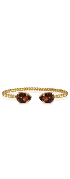 Caroline Svedbom Mini Drop Bracelet Smoked Topaz / Gold