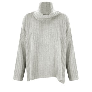 Gemini Label  Ribbed Polo Neck Cashmere Jumper
