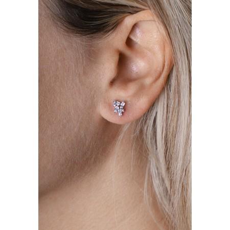 Ania Haie Cluster Stud Earrings - Metallic
