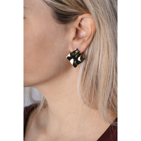 Ania Haie Crush Square Stud Earrings - Gold