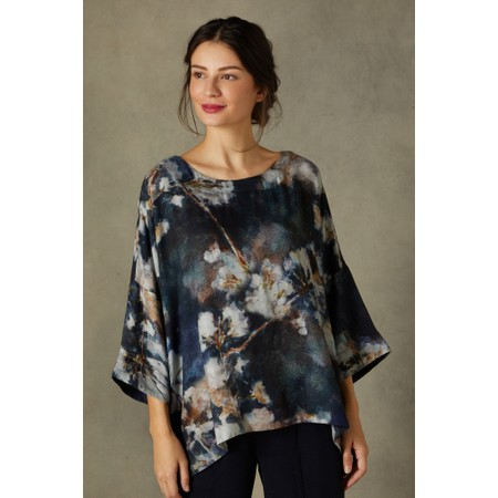 Sahara Japanese Blossom Print Top - Multicoloured