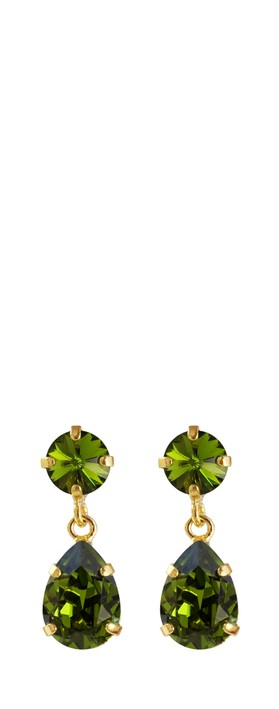 Caroline Svedbom Mini Drop Earring Olivine / Gold