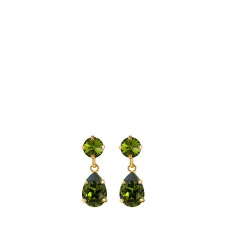 Caroline Svedbom Mini Drop Earring - Green