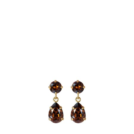 Caroline Svedbom Mini Drop Earring - Brown