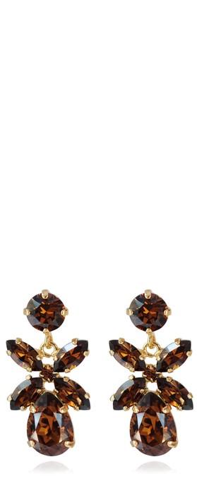 Caroline Svedbom Mini Dione Earring Smoked Topaz / Gold