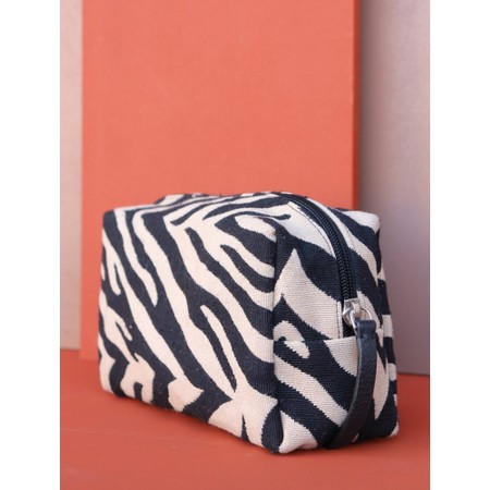 Hill & How Animal Print Make-Up Bag - Black