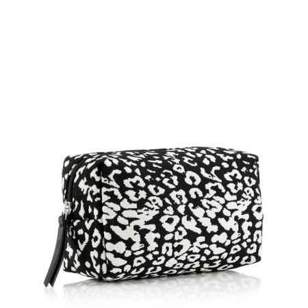 Hill & How Animal Print Make-Up Bag - Beige