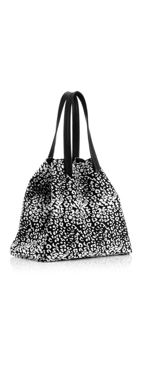 Hill & How Fabric Animal Tote Bag Leopard