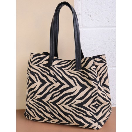 Hill & How Fabric Animal Tote Bag - Black