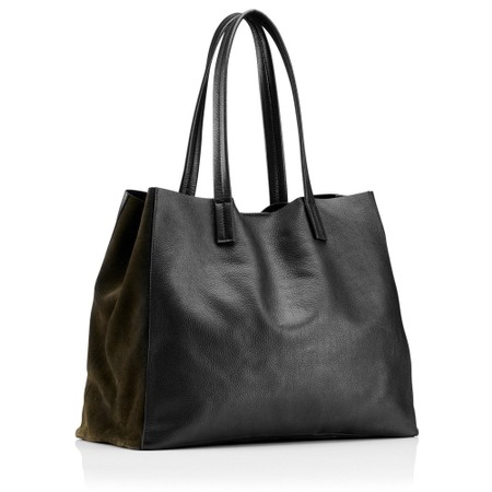 Hill & How Large Leather Tote - Black