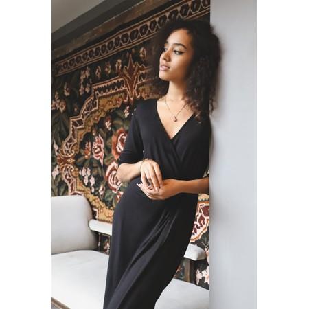 Adini Solid Lycra Gigi Dress - Black
