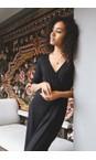 Adini Black  Solid Lycra Gigi Dress