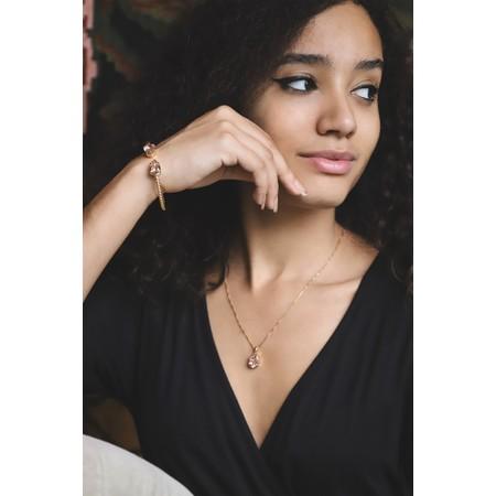 Caroline Svedbom Mini Drop Necklace  - Pink