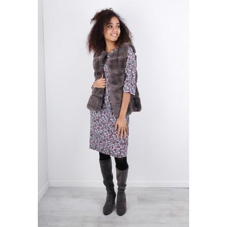 Sandwich Clothing Herringbone Print Dress  - Grey