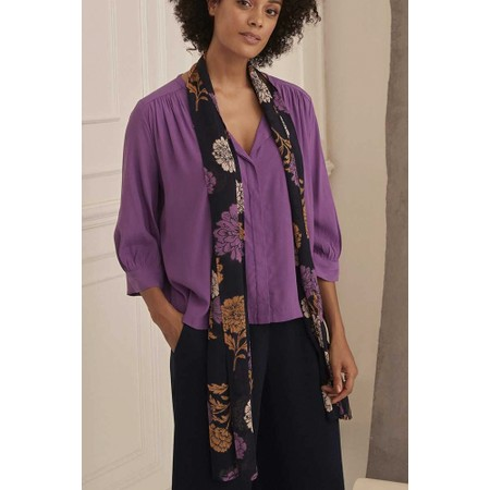 Masai Clothing Along Floral Scarf - Purple
