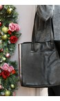 Hill & How Black / Pewter Large Leather Tote