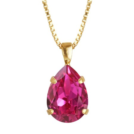 Caroline Svedbom Mini Drop Necklace  - Pink
