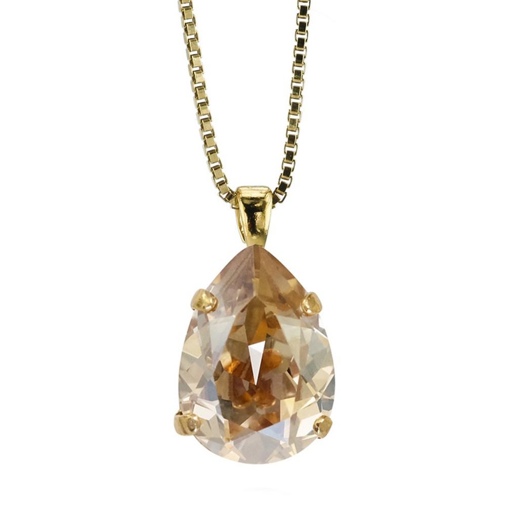 Caroline Svedbom Mini Drop Necklace  Golden Shadow / Gold