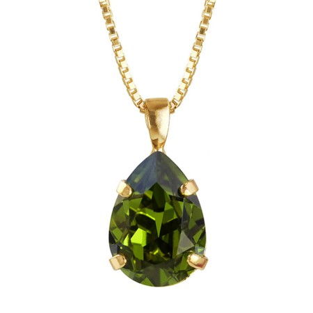 Caroline Svedbom Mini Drop Necklace  - Green