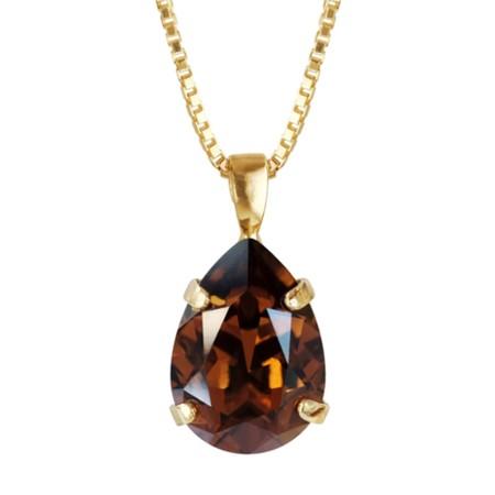 Caroline Svedbom Mini Drop Necklace  - Brown