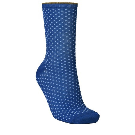 BeckSondergaard Dina Small Dots Socks - Blue