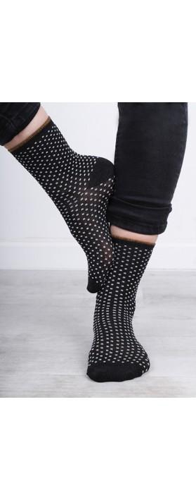BeckSondergaard Dina Small Dots Socks Black
