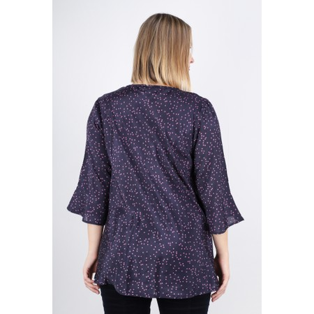 Masai Clothing Betsy Spot Top - Purple