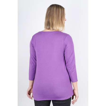 Masai Clothing Cilla Basic Top - Purple