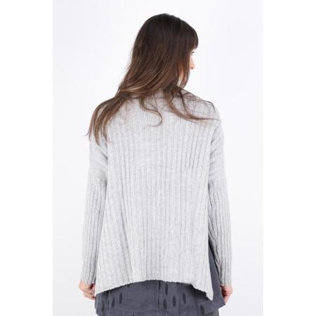 Gemini Label  Ribbed Polo Neck Cashmere Jumper - Grey