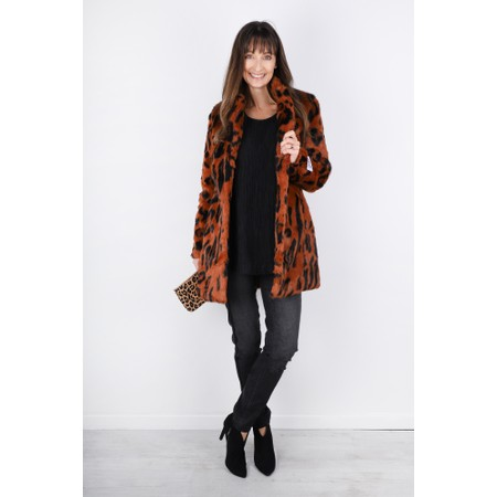 RINO AND PELLE Toral Leopard Coat - Beige