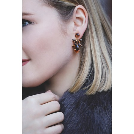 Caroline Svedbom Mini Dione Earring - Brown