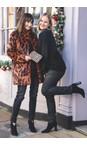 Robell Black 90 Nena 78cm Coated Denim Velvet Spot Jean