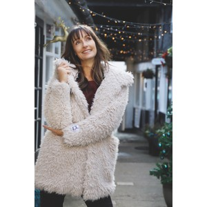 RINO AND PELLE Welda Shaggy Faux Fur Jacket