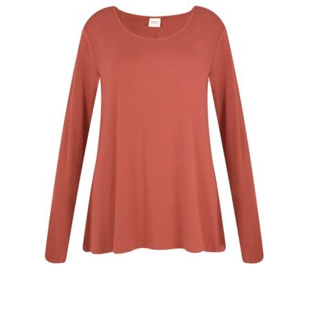 BY BASICS Heidi A-Shape Round Neck Bamboo Jersey Top - Orange