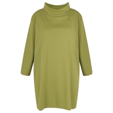 BY BASICS Clara Easyfit Organic Cotton Roll Neck Top - Green