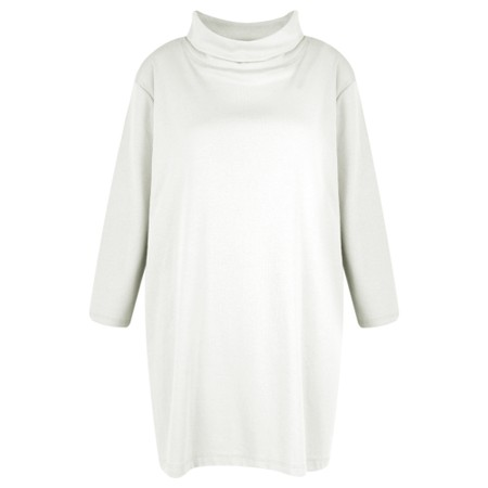 BY BASICS Clara Easyfit Organic Cotton Roll Neck Top - White