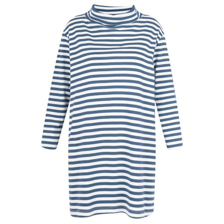 BY BASICS Clara Easyfit Organic Cotton Roll Neck Top - Blue