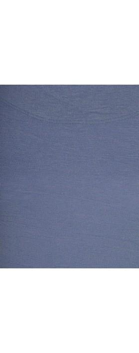 BY BASICS Mette Three Quarter Sleeve Blusbar Merino Top Indigo Melange 660