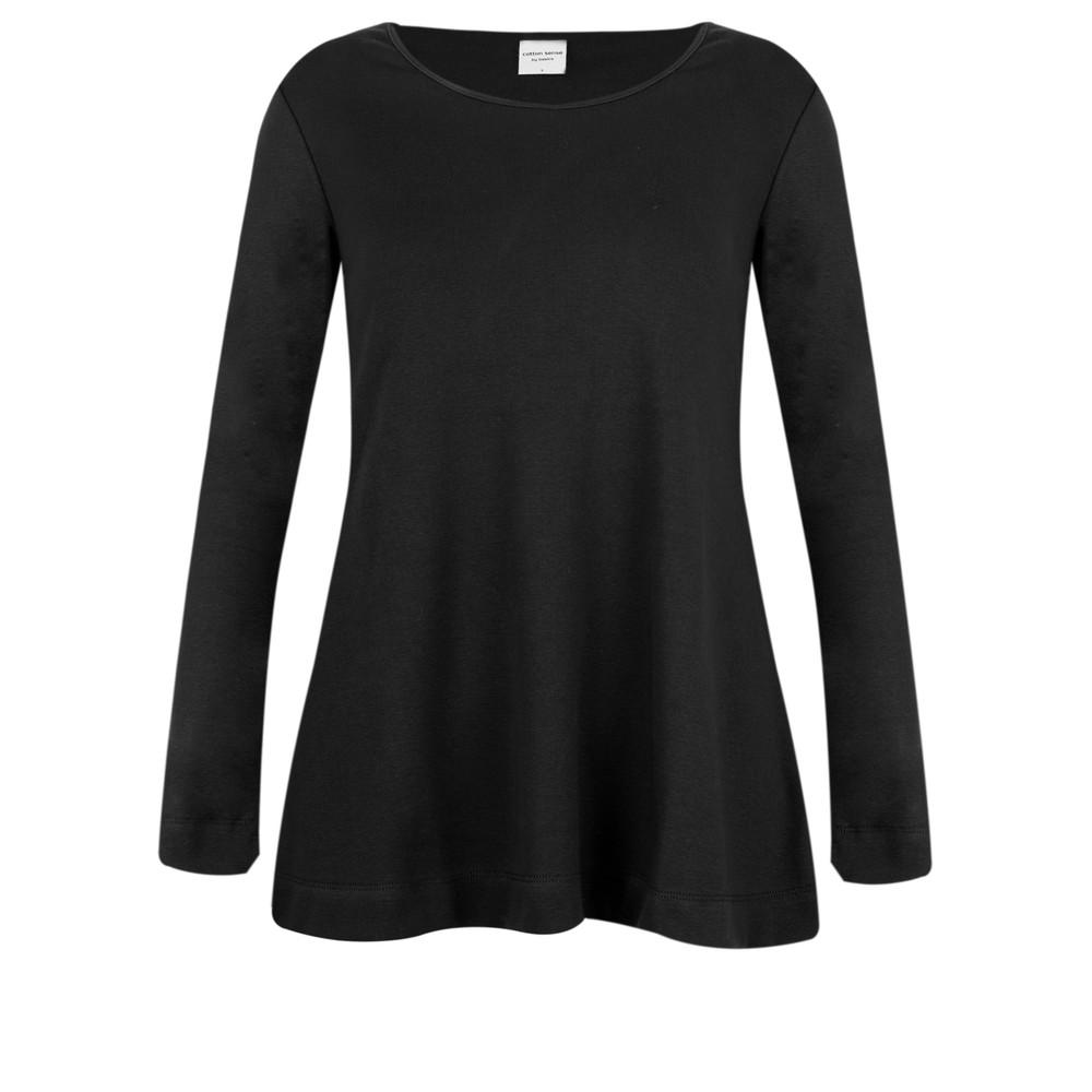 BY BASICS Anya Round Neck Organic Cotton Top Black 878