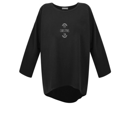 Chalk Robyn My Christmas Top - Black