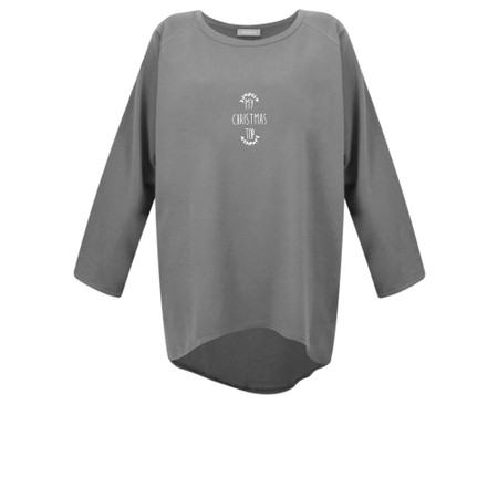 Chalk Robyn My Christmas Top - Grey