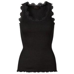 Rosemunde Babette Rib Silk Lace Trim Fitted Top