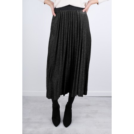 Luella Sparkle Pleated Skirt - Black