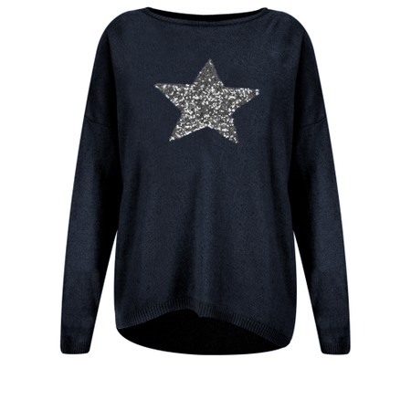 Luella Sequin Star Cashmere Blend Jumper - Blue