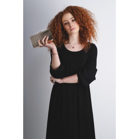 Sahara Drape Dress - Black