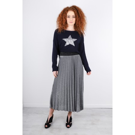 Luella Sparkle Pleated Skirt - Metallic