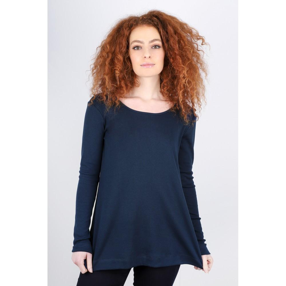 BY BASICS Anya Round Neck Organic Cotton Top Navy Blue 72